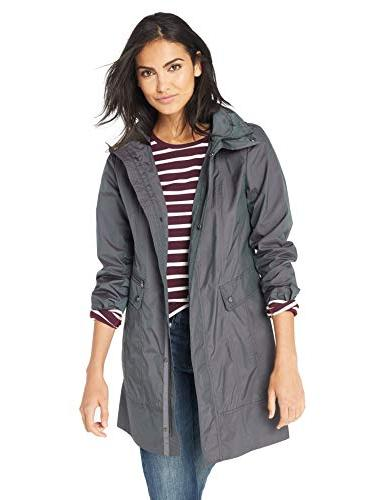 women s packable rain jacket gunmetal medium