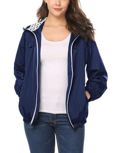 LOMON Women's Rain Jacket with