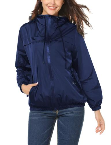 LOMON Women's Packable Waterproof Rain Jacket Outdoor Rainco