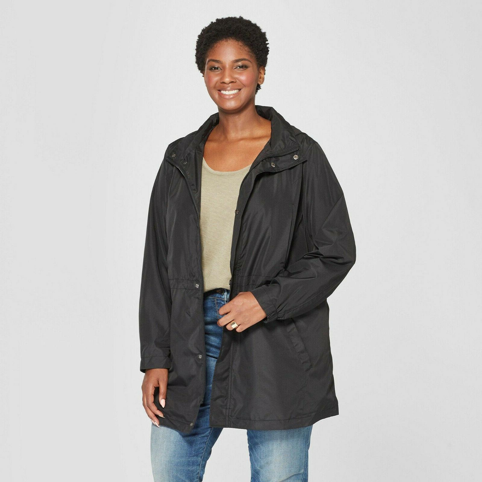 women s plus size anorak rain coat