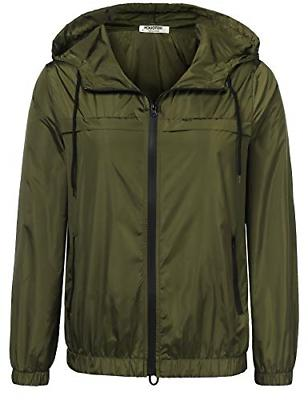 waterproof raincoats for womens hooded zip up