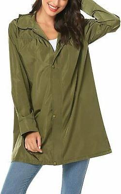 LOMON Women's Raincoat Lightweight Waterproof Outdoor Hooded