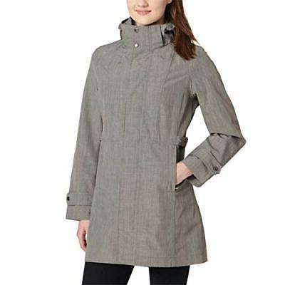 14ca4f7e0 Women's Kirkland Signature Waterprof Wind Resistant Hoded Rain COAT Light  Gray