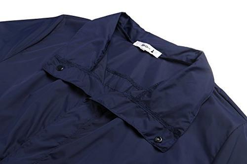 ANGVNS Waterproof Windproof Raincoat Anorak with Collar