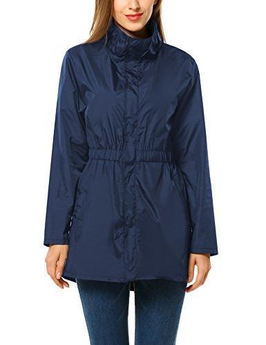 women s waterproof and windproof rain jacket