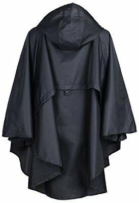 QZUnique Women's Waterproof Packable Rain Jacket Poncho