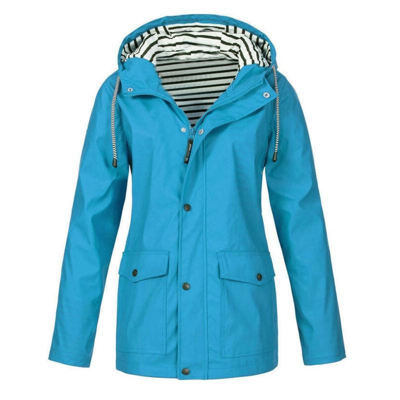 Women's Rain Outdoor Plus Zip Hooded