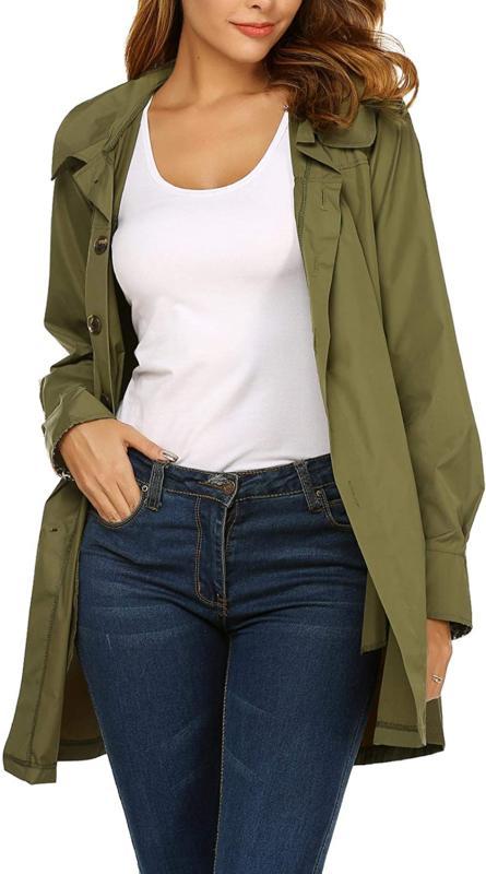 Beyove Women'S Waterproof Raincoat Outdoor Hooded Lightweigh