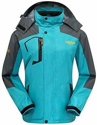 Wantdo Women's Windbreaker Raincoat Breathable Softshell Hik