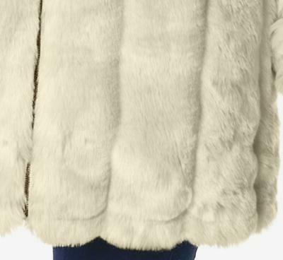 Women's Fur hooded coat jacket plus fits 5X &