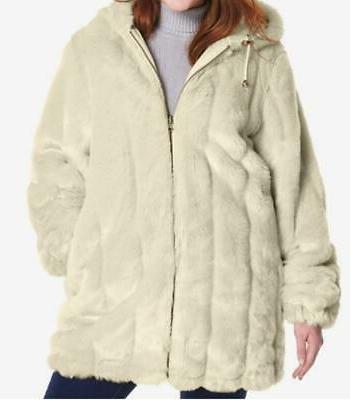 women s winter reversible faux fur hooded