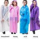Women See Through Hooded Raincoat Long Rain Coat Outdoor Cam