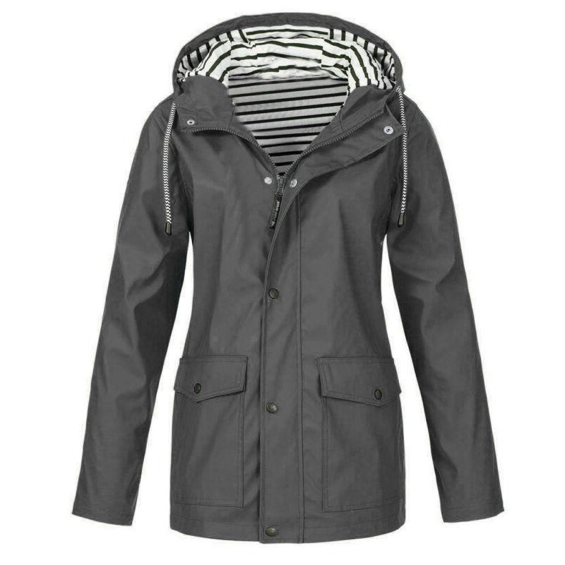 Women's Rain Jacket Outdoor Zip Tops