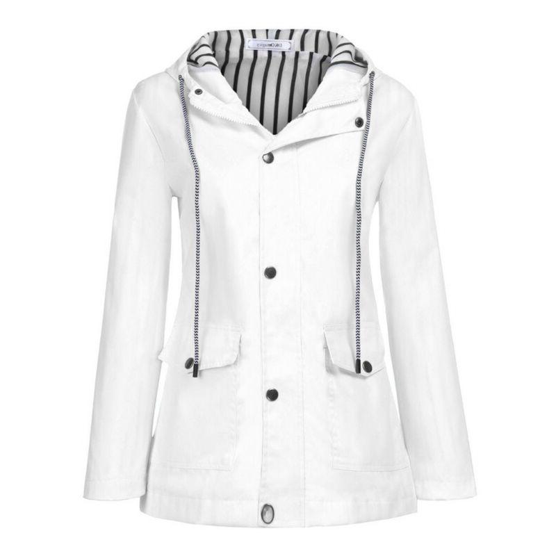 Women's Outdoor Plus Size Zip Raincoat