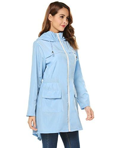 LOMON Rain Jacket Hooded