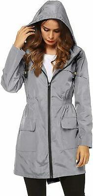 LOMON Women Waterproof Lightweight Rain Jacket Active Outdoo