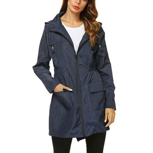 Women Hoodies Raincoat Coat Plus Size US