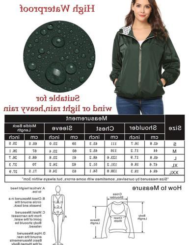 LOMON Women's Raincoat Quick-Drying Hooded JacketDark