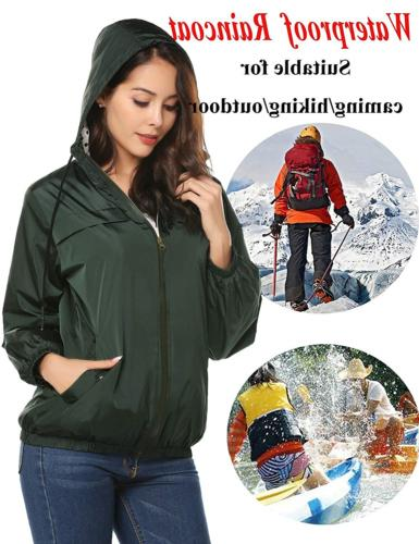 LOMON Women's Raincoat Hooded