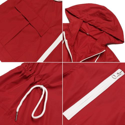 LOMON Jacket Waterproof with Hood Raincoat Outdoor