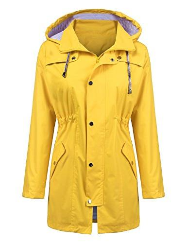 ZHENWEI Womens Waterproof Jacket