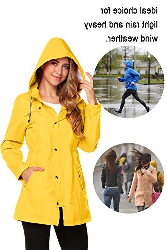 ZHENWEI Womens Hooded Waterproof Active Outdoor Rain Jacket S-XXL