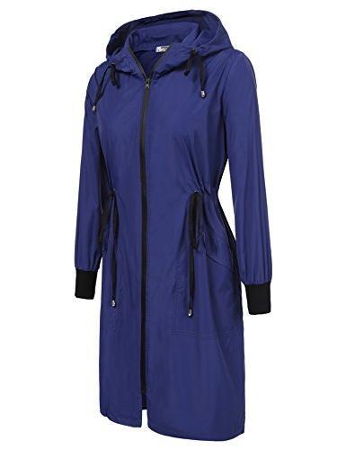 ELESOL Jacket Rain Coat,Dark Blue,L