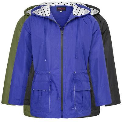 Womens Plus Raincoat