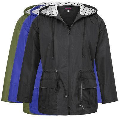 Womens New Long Sleeve Raincoat
