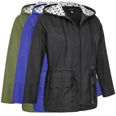 Womens Size New Long Hooded Raincoat