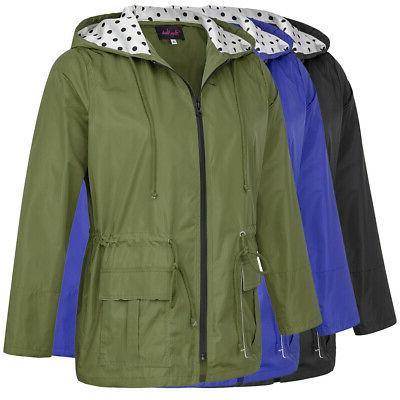 Womens Size New Sleeve Raincoat Slim