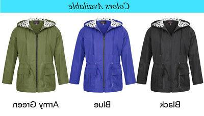 Womens Lightweight Plus Size New Long Raincoat Trench