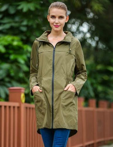 Hotouch Lightweight Travel Trench Green