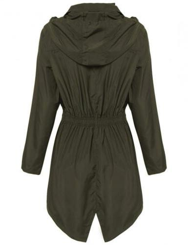 Hotouch Womens Lightweight Trench Green