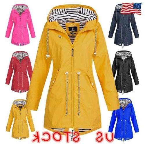 Womens Waterproof Raincoat Ladies Outdoor Wind Rain Forest J