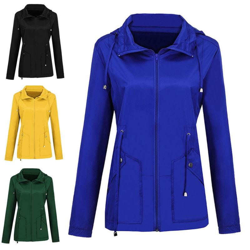 Womens Long Sleeve Wind Jacket Ladies Winter