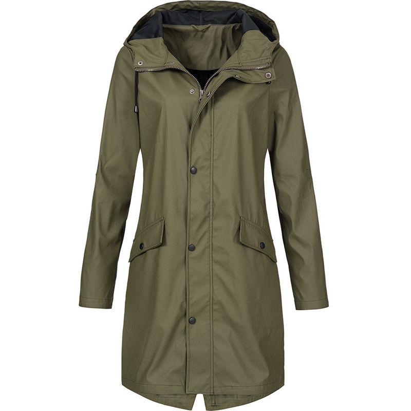 Plus Size Hooded Raincoat Outwear