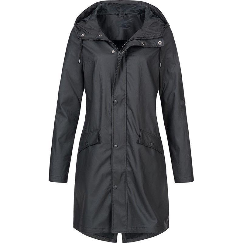 Plus Size Women Waterproof Raincoat Wind Coat