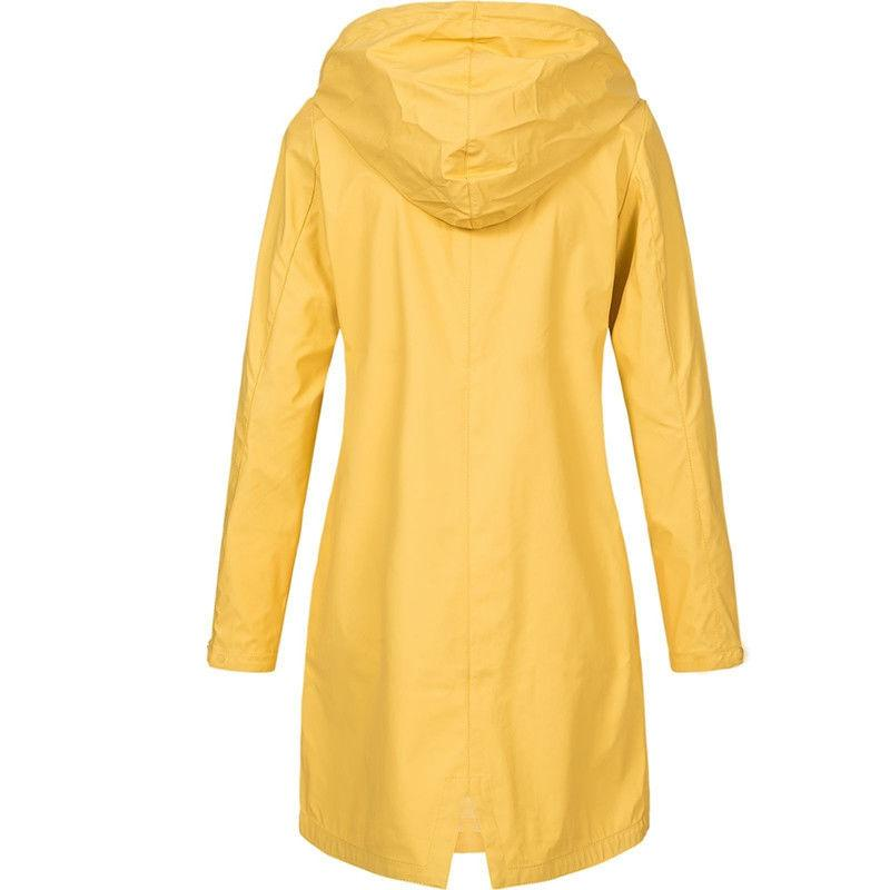 Plus Size Hooded Coat Raincoat Jacket Top