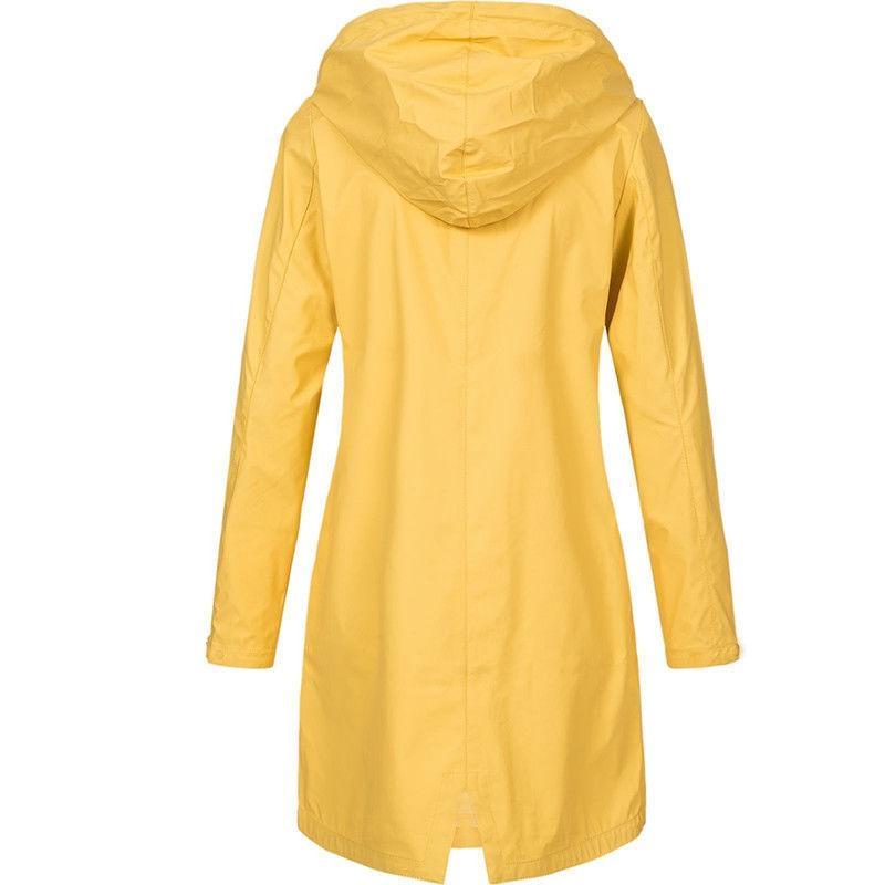 Plus Size Raincoat Hooded Coat Outwear