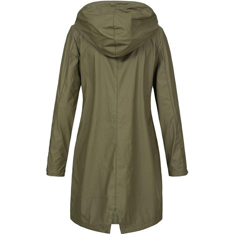 Plus Hooded Raincoat Jacket Top