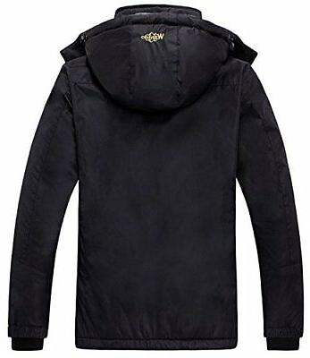 Womens Mountain Ski Jacket Windproof Black XX Large