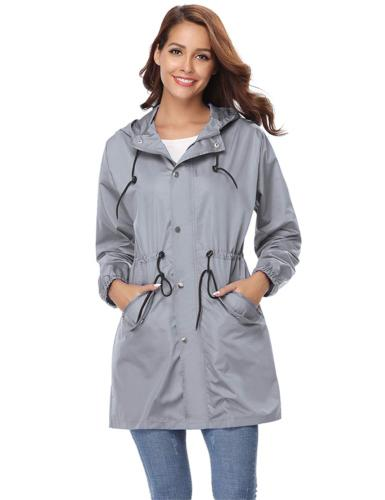 Abollria Womens Outdoor Waterproof Lightweight Windbreaker R