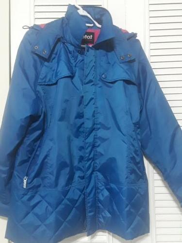 womens pink fleece lined rain coat jacket