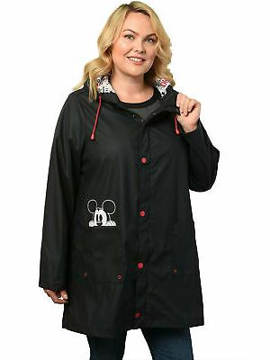 womens plus size mickey mouse rain coat