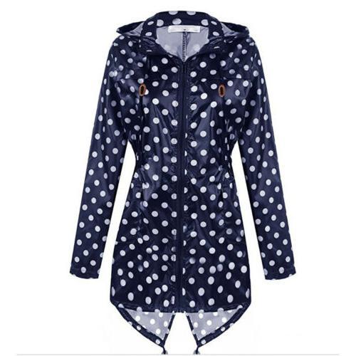 Womens Polka Dot Raincoat Rain Camping Outdoor