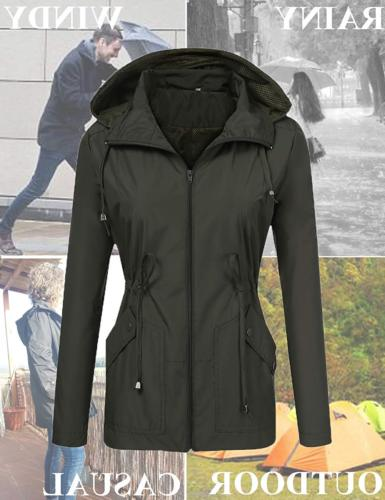 LOMON Womens Coat with Lined Active