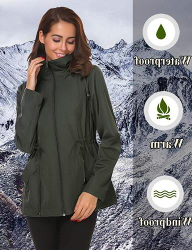 LOMON Womens Coat with Lightweight Lined