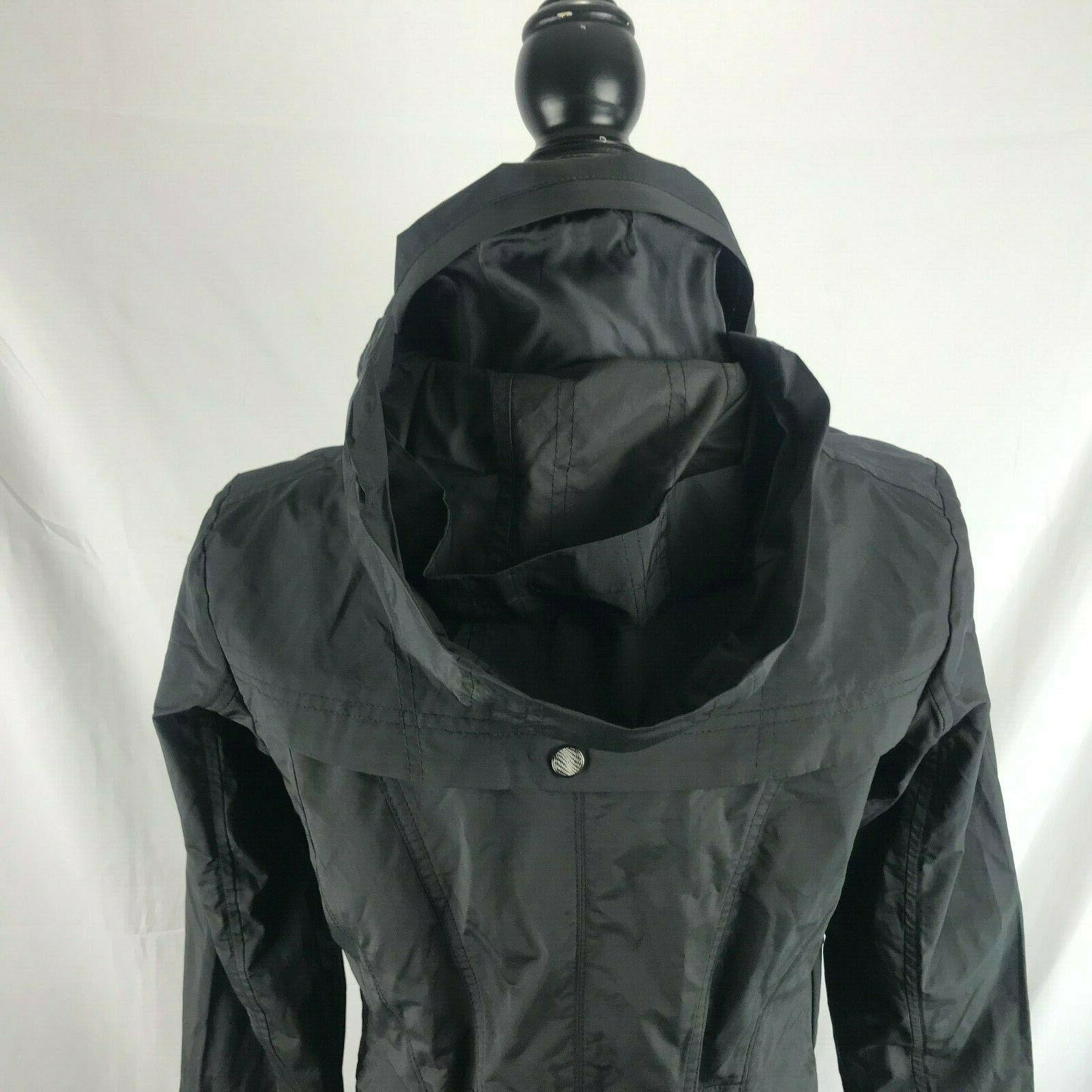 COLE HAAN Raincoat Black Small Full NWT