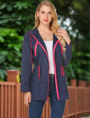 LOMON Womens Raincoat Waterproof Jacket Windbreaker Hooded